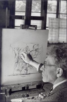 Alberto Giacometti, Stampa (Switzerland), 1961 -by Henri Cartier-Bresson  [+] from : Fondation Pierre Gianadda, 'Henri Cartier-Br...