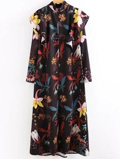 SHARE & Get it FREE   High Neck Printed Ruffled Maxi DressFor Fashion Lovers only:80,000+ Items • New Arrivals Daily Join Zaful: Get YOUR $50 NOW!
