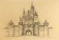 Roland Hill drawing of Sleeping Beauty's castle