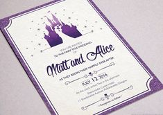 Disney wedding invitationWedding Disney RustManorHouse Future
