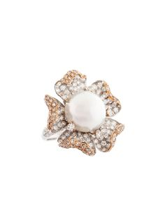 Pearl and Diamond Ring #pearls