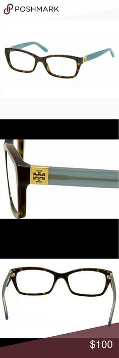 Tory Burch Tortoise Milky Fountain Frames Used with signs of wear, but still an overall great pair of glasses. Comes with case.  Due to wear, the top of the frame and front/back of the nose piece, there is fading of the color, a white color/scratches. I tried to capture these pictures as much as possible (see pictures 4, 5, 6, 7, & 8).    The lens could be switched out to your prescription. For reference, the current lens is -2.75 on each side. Lens have a few scratches on them.  Style…
