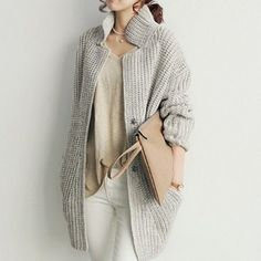 Womens Knit Cardigan Mid Length - retail