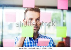 Businessman working on new project strategy - stock photo