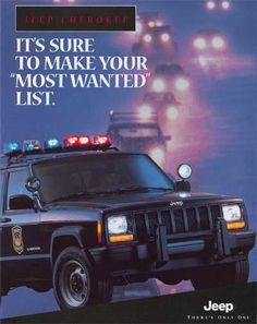 Cherokee Chat - pictures of Jeep Cherokee in service - Do you have any photos of Jeep Cherokee in any army, sheriff, police, Fire Department, etc. any service? Jeep Suvs, Jeep Jeep, 2001 Jeep Cherokee, Henry Ford Museum, Vw Bugs, Car Advertising, Emergency Vehicles, Jeep Life, Police Cars