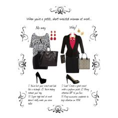 """""""When you're a petite, short-waisted woman at work..."""" by professionality on Polyvore"""