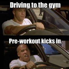 Love when the pre-workout kicks in! That's when you, KNOW, it's gonna be a GREAT workout! ^-^