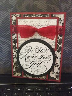 Scrapping with Heart: Be Still and Know Card - Cricut