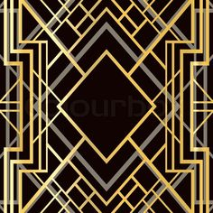 """Buy the royalty-free Stock vector """"Art deco geometric frame style) Stock Vector"""" online ✓ All rights included ✓ High resolution vector file for. Art Nouveau, Art Deco Pattern, Abstract Pattern, Illustration Vector, Vector Art, Vector File, Invitaciones Art Deco, King Kong, Moda Art Deco"""