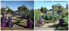 This is the Outer Space section of Woodend Primary School's (South Australia) Stephanie Alexander Kitchen Garden. The photo shows the garden in 2011 and in 2013 - it is starting to look like a forest from outer space. :)