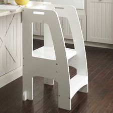 Household Helper 2 Step Manufactured Wood Up Kitchen Stool With 200 Lb