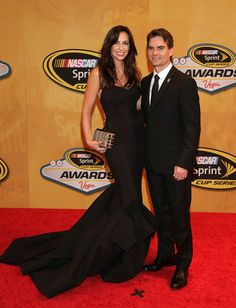 2012 NASCAR Sprint Cup Series Champion's Awards Banquet. Jeff Gordon and his wife.
