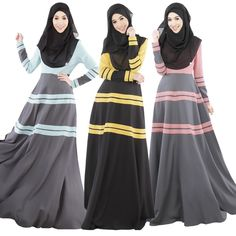 2015 New Muslim abaya Islamic clothing for women fashion colorful dubai kaftan hijab long dress turkish abaya dress JZ3666 #Islamic clothing Muslim Evening Dresses, Muslim Dress, Muslim Hijab, Hijab Dress, Evening Gowns, Dress Skirt, Islamic Fashion, Muslim Fashion, Hijab Fashion