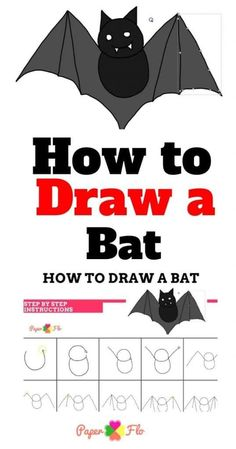 Spooky animals like bats are fun to draw and can be done very easily. I'll show you my method for how to draw a cartoon bat. Halloween Cartoons, Halloween Drawings, Halloween Projects, Halloween Costumes For Kids, Diy Halloween, Diy Projects, Draw A Bat, Cartoon Bat, Make A Quote