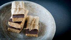Healthy Chocolate, coconut and almond bar - gluten, dairy and fructose free treat.  Vegan and raw and so easy to make