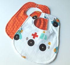 Ambulance Baby Bibs  Car Baby Bibs  EMT baby by charlottechicstore, $16.00