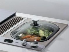 Gaggeneau in-counter steamer.  I have veggies figured out – trying rice for the first time tonight!