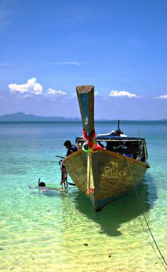 Koh Kradan Island in Trang. Clear water ideal for snorkeling and diving.
