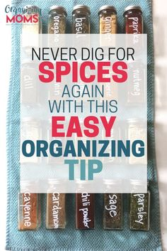 The simple spice drawer organization solution you've been waiting for. Step-by-step instructions to creating an easy-to-use spice drawer.