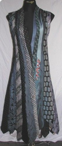 moRphed long Necktie vest funky 60's 70's brocade by missmorph on imgfave