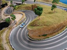 Some really impressive looking slot car tracks, just wish the price wasn't so high so that I could afford to put something like this in our house.