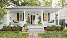 A little goes a long way. While we love the look and feel of spacious porches, 500-plus square feet isn't a prerequisite for a true Southern porch. These little stunners will make the case for living small and loving every square inch of your space.