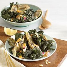 Kale Salad with Grilled Artichokes | CookingLight.com