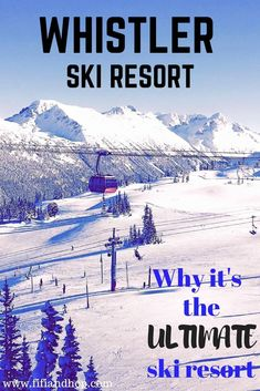 Travel Exchange: Why Whistler Resort Makes for the Ultimate Ski Vacation Whistler ski resort in Canada is considered by many people to be one of the best ski resorts in the world. In our latest Travel Whistler Ski Resort, Ski Vacation, Vacation Ideas, Winter Vacations, Best Ski Resorts, Best Skis, Travel Destinations, Travel Tips, Viajes