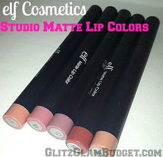ELF Cosmetics Studio Matte Lip Colors (Swatches)