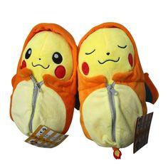 "2pcs Pokemon Pikachu in Lizardon Sleeping Bag Plush Doll Toy 20cm 8"" New #Unbranded"