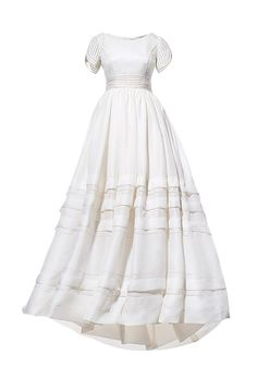 Silk-gazar ball gown, $4,575, Rosa Clará » Love that it has sleeves.