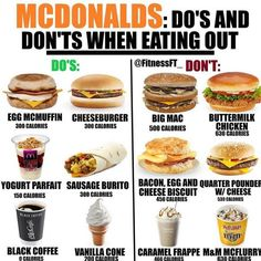 56 New Ideas For Diet Fast Food Healthy Eating Low Calorie Fast Food, Healthy Fast Food Options, Fast Healthy Meals, Healthy Meal Prep, Healthy Choices, Healthy Eating, Healthy Recipes, Healthy Mcdonalds Options, Zero Calorie Foods