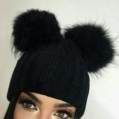 beauty, cool, and hair image Winter Wear, Autumn Winter Fashion, Winter Hats, Girl Outfits, Cute Outfits, Fashion Outfits, Casual Outfits, Beanie Outfit, Cute Hats