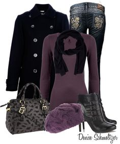 """Purple Beanie"" by denise-schmeltzer on Polyvore"