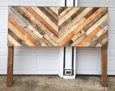 Reclaimed Pallet headboard by PaducahPallets on Etsy