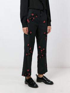 Marc Jacobs pinstripe and floral trousers
