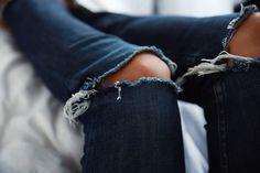 Today s close up details - this indigo ripped jeans are a big denim crush  Insta d3a4907676
