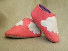 Cute wool felt cloud shoes by 7miles on Etsy
