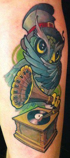 #tattoo #ink #owl #music