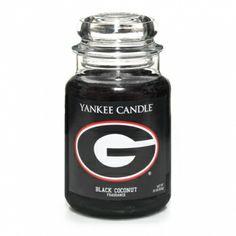 University Of Georgia (Black Coconut) : Large Jar Candle : Yankee Candle