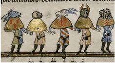 Five Mummers as Ass. Ape. Goat. Ox. Vulture. Flem. 1338-44 MS Bodl. 264   Flickr - Photo Sharing!