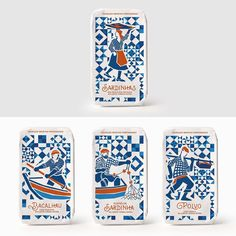 We love this modern yet traditional feeling take on canned fish. @ruiverissimodesign created the packaging for Socilink, a Portuguese food brand.⠀  .⠀  .⠀  .⠀  #packaging #design #packagingdesign #cannedfish #fish #graphics #illustration #foodbrand #food #geometric #traditional #type #typography #branding #brand #portugal