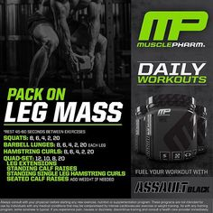 Mp workout of the day get swole phase 2 legs by musclepharmpres httpsinstagramp hfmawqard malvernweather Gallery