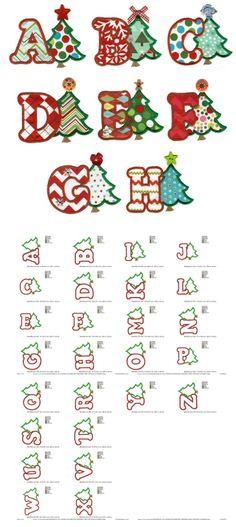 Christmas Tree Applique Alphabet by Designs by Juju
