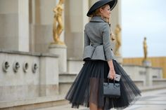 On the streets in Paris during Haute Couture Spring 2015