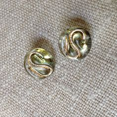 Vintage glass Darian buttons by Grant Featherston Design from onlygoodbuttons on Etsy. Stamped to back DARIAN G. Metal Buttons, Vintage Buttons, Brutalist Design, Tailored Fashion, Metallic Luster, Vintage Pottery, Glass Collection, Contemporary Jewellery, Clear Glass