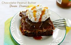 Chocolate-Peanut Butter Dream Brownies Recipe on Yummly