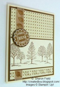 SU Lovely As A Tree, stamped ribbon