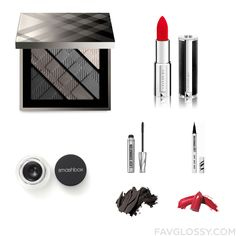 Cosmetics Collection Including Burberry Eyeshadow Givenchy Lipstick Smashbox Eyeliner And Smudge Proof Mascara From September 2016 #beauty #makeup