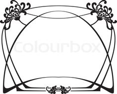 Illustration about Art Deco Frame. Illustration of tatoo, tree, place - 3764096 Art Nouveau Pattern, Art Nouveau Design, Design Art, Stencils, Art Nouveau Illustration, Jugendstil Design, Art Nouveau Furniture, Arabesque, Decorative Borders